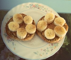 Multi-grain-muffin-with-peanut-butter-banana-cinnamon