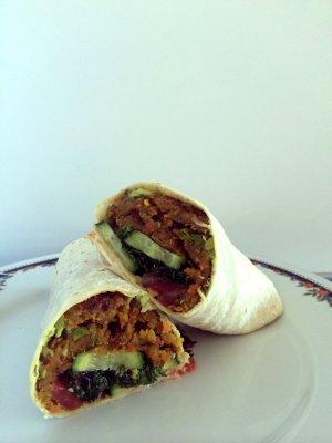 vegetarian-burger-wrap